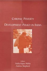 Cover of: Chronic poverty and development policy in India |