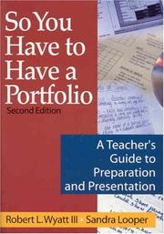 Cover of: So you have to have a portfolio