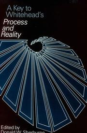 Cover of: A key to Whitehead's Process and reality