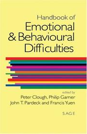 Cover of: Handbook of Emotional and Behavioural Difficulties |