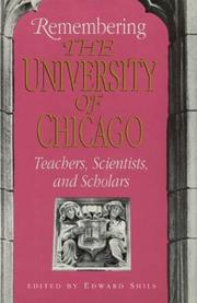 Cover of: Remembering the University of Chicago