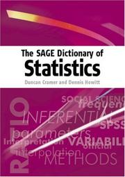 Cover of: The Sage dictionary of statistics