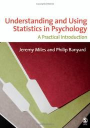 Cover of: Understanding and using statistics in psychology |