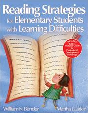 Cover of: Reading Strategies for Elementary Students With Learning Difficulties | William N. (Neil) Bender