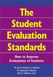 Cover of: The Student Evaluation Standards | Arlen R. Gullickson