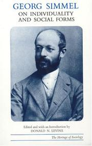 Cover of: Georg Simmel on Individuality and Social Forms (Heritage of Sociology Series) | Georg Simmel