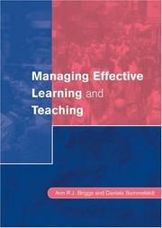 Managing Effective Learning and Teaching (Centre for Educational Leadership & Management) by Ann Briggs, Daniela Sommefeldt