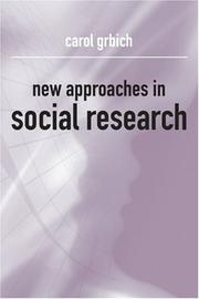 Cover of: New approaches in social research | Carol Grbich