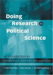 Cover of: Doing research in political science | Paul Pennings