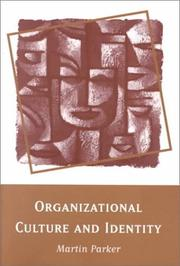 Cover of: Organizational culture and identity