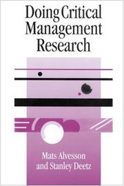 Cover of: Doing critical management research