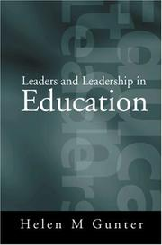 Cover of: Leaders and leadership in education