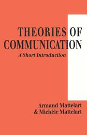 Cover of: Theories of Communication | Armand Mattelart