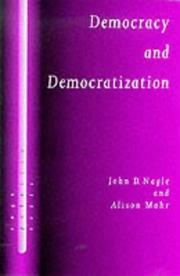 Cover of: Democracy and democratization