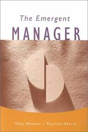 Cover of: The emergent manager