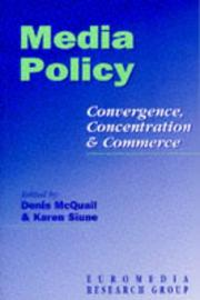 Cover of: Media Policy