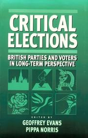 Cover of: Critical elections by