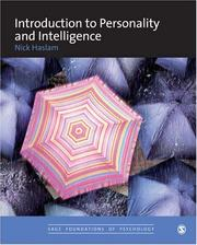 Cover of: Introduction to Personality and Intelligence