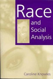 Cover of: Race and social analysis | Caroline Knowles