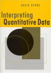 Cover of: Interpreting quantitative data