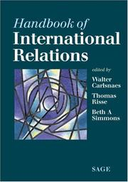 Cover of: Handbook of international relations by
