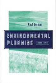 Cover of: Environmental planning