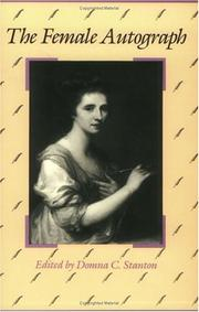 Cover of: The Female autograph | edited by Domna C. Stanton.