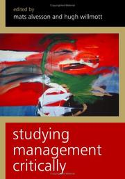 Cover of: Studying management critically by