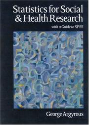 Cover of: Statistics for social and health research