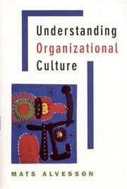 Cover of: Understanding organizational culture