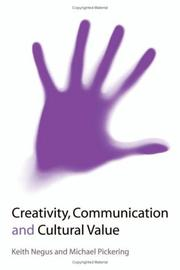 Cover of: Creativity, communication, and culture value