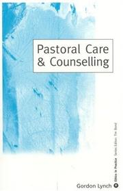 Cover of: Pastoral Care and Counseling (Ethics in Practice Series)