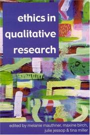 Cover of: Ethics in qualitative research |