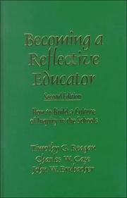 Cover of: Becoming a reflective educator