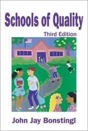 Cover of: Schools of quality | John Jay Bonstingl