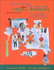 Cover of: Critical thinking for social workers