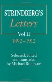 Cover of: Strindberg's letters