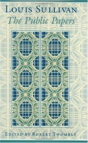 Cover of: Louis Sullivan