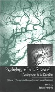 Cover of: Psychology in India Revisited - Developments in the Discipline: Volume 1