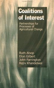 Cover of: Coalitions of Interest | Ruth Alsop, Elon Gilbert, John Farrington, Rajiv Khandelwal