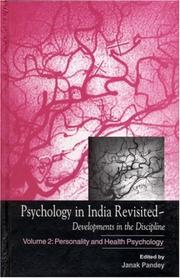 Cover of: Psychology in India Revisited - Developments in the Discipline: Volume 2