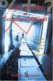 Cover of: High Quality at Economical Cost | Kailash N Anand