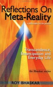 Cover of: Reflections on Meta-Reality | Roy Bhaskar
