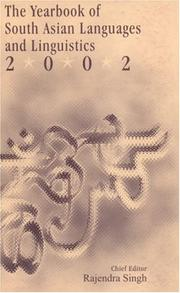 Cover of: The Yearbook of South Asian Languages and Linguistics 2002 (Yearbook of South Asian Languages and Linguistics)
