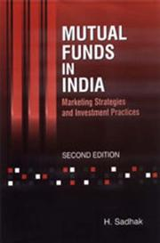 Cover of: Mutual funds in India | H. Sadhak