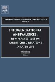 Cover of: Intergenerational ambivalences |