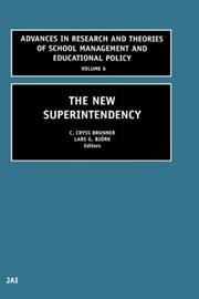 Cover of: The new superintendency |