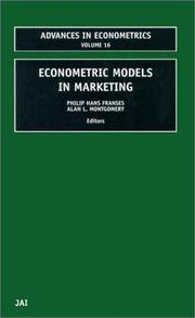 Cover of: Econometric models in marketing |