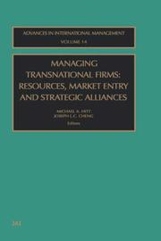 Cover of: Managing transnational firms