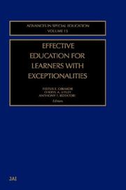 Effective Education for Learners with Exceptionalities (Advances in Special Education)